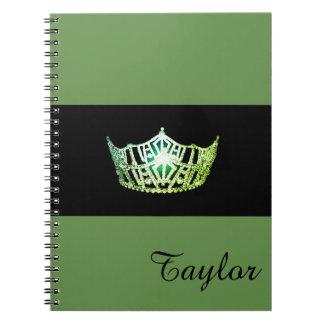 失敗アメリカの緑の王冠のノートの名前をカスタムする ノートブック