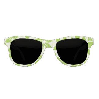 失敗アメリカの緑の花柄のサングラス サングラス