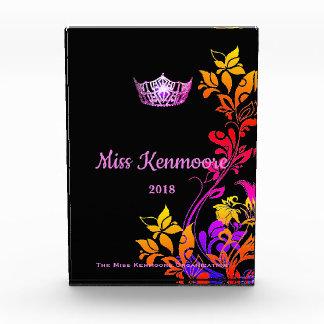 失敗アメリカの花のピンクの王冠のアクリル賞 表彰盾