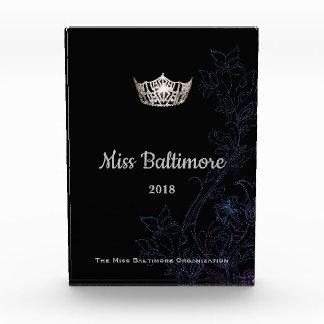 失敗アメリカの花の銀製の王冠のアクリル賞 表彰盾
