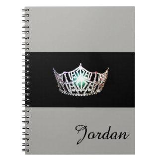 失敗アメリカの銀製の王冠のノートの名前をカスタムする ノートブック