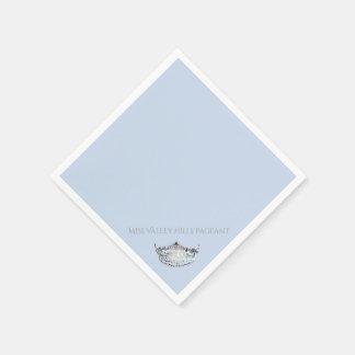 失敗アメリカの銀製の王冠の紙ナプキン スタンダードカクテルナプキン