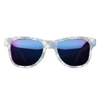 失敗アメリカの青い格子縞のプリントのサングラス サングラス