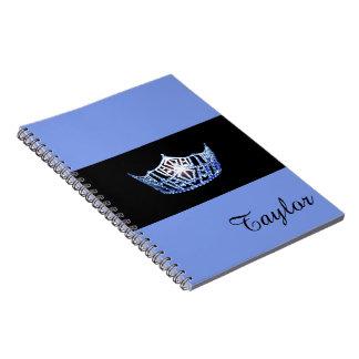 失敗アメリカの青い王冠のノートの名前をカスタムする ノートブック