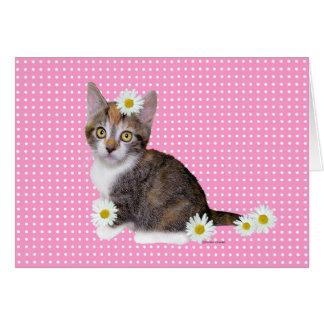 """""""失敗デイジー""""のピンクの挨拶状 カード"""