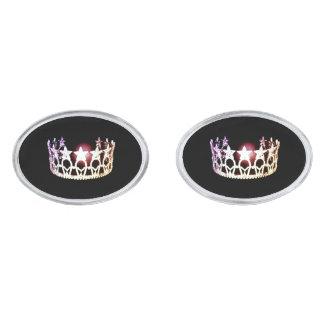 失敗米国のスタイルの銀の王冠のカフスボタン 銀色 カフリンク