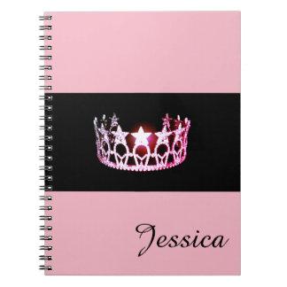 失敗米国のピンクの王冠のノートの名前をカスタムする ノートブック