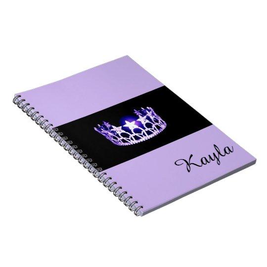 失敗米国のラベンダーの王冠のノートの名前をカスタムする ノートブック
