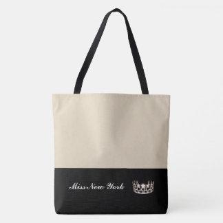 失敗米国の州の銀の王冠のトートのバッグ大きいベージュ色 トートバッグ