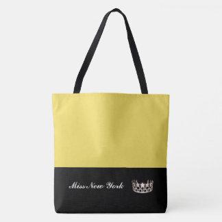失敗米国の州の銀の王冠のトートのバッグ大きい黄色 トートバッグ