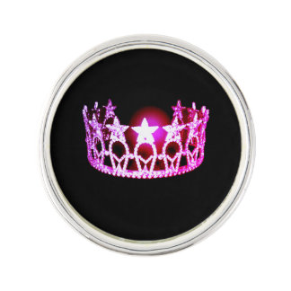 失敗米国の暗い赤紫色の王冠のラペルピン ラペルピン