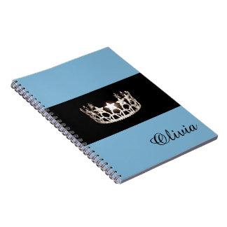 失敗米国の空色の王冠のノートの名前をカスタムする ノートブック