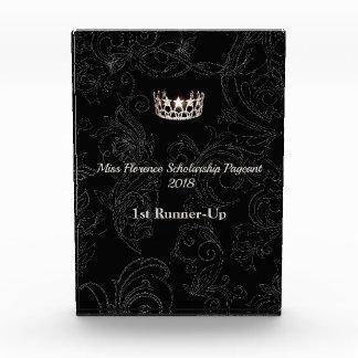 失敗米国の華麗さの銀の王冠のアクリル賞 表彰盾