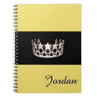 失敗米国の銀製の王冠のノートの名前をカスタムする ノートブック