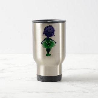 失敗適合の緑のチュチュのバレリーナの芸術 トラベルマグ