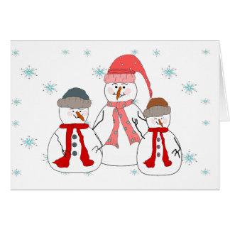 失敗雪だるま、雪だるまの子供のお洒落な芸術 ノートカード