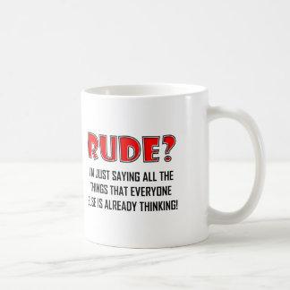 失礼な事のおもしろマグカップの発言 コーヒーマグカップ