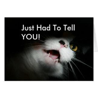 失礼な猫のカスタムおよびことわざ カード
