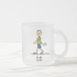 失礼な男のユーモア フロストグラスマグカップ