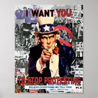 失礼な男の子米国の抗議ポスター ポスター