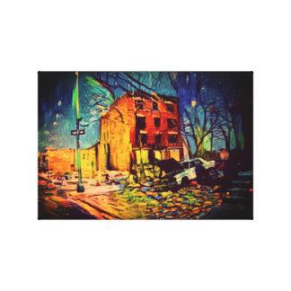失礼な男の子米国の抽象美術-小屋ブロンクス キャンバスプリント