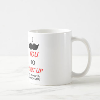 失礼な締められた髭のコーヒー・マグ コーヒーマグカップ