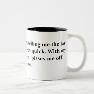 失礼。 …私に最後を言うことを止めて下さい ツートーンマグカップ