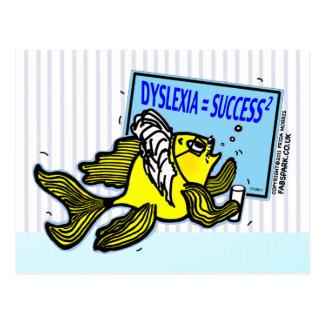失読症の先生の魚の~の難読症状者の成功 ポストカード
