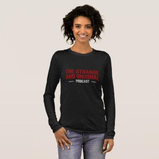 奇妙で、珍しい女性のずっと袖のティー 長袖Tシャツ