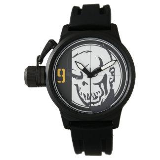 奇妙なスカル 腕時計