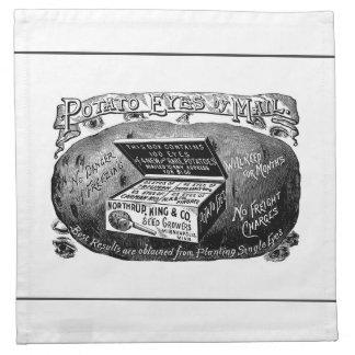 奇妙なヴィンテージのポテト広告 ナプキンクロス