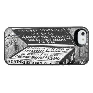 奇妙なヴィンテージのポテト広告 iPhone SE/5/5sバッテリーケース