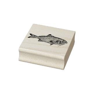 奇妙なヴィンテージの魚のスケッチ ラバースタンプ