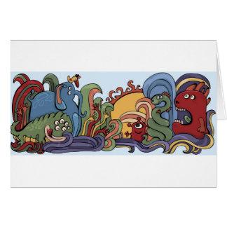 奇妙な世界のかわいいモンスター カード