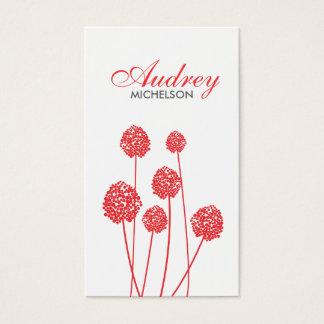 奇妙な花WHITE/REDの名刺 名刺
