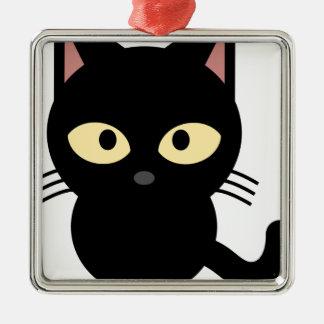 奇妙なblack_cat メタルオーナメント