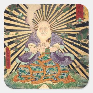 奇術師、Toyokuni、Ukiyo-e、豊国の手品師 スクエアシール