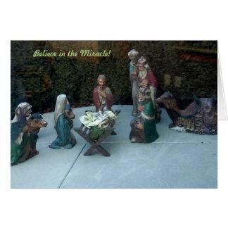 奇跡で信じて下さい グリーティングカード