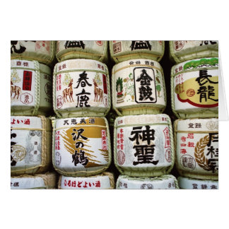 奈良の挨拶状の為の大樽 カード