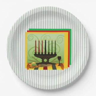 奨励金のKwanzaaのパーティーの紙皿の提供 ペーパープレート