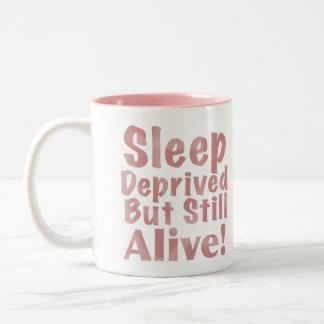 奪い取られた睡眠はまだしかし挨りだらけで生きた上がりました ツートーンマグカップ