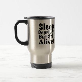 奪い取られる睡眠しかしまだ生きた トラベルマグ