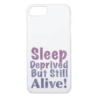 奪い取られる睡眠しかしまだ眠い紫色で生きた iPhone 8/7ケース