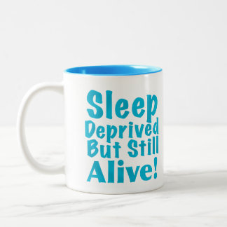 奪い取られる睡眠しかしまだ青で生きた ツートーンマグカップ