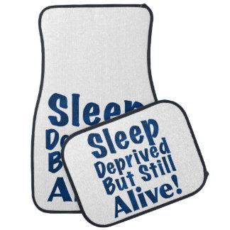 奪い取られる睡眠しかしまだ青で生きた フロアマット