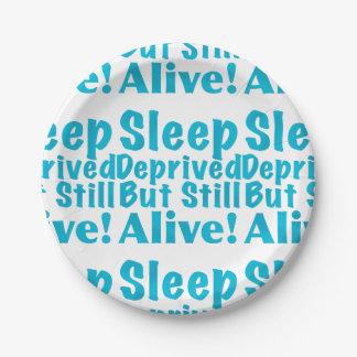 奪い取られる睡眠しかしまだ青で生きた ペーパープレート