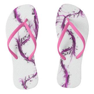 女の子および女性のためのピンクのストライブ柄 ビーチサンダル