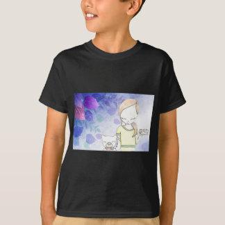 女の子および彼女の犬 Tシャツ