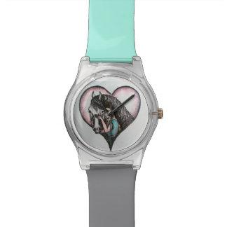 女の子および彼女の馬の腕時計 腕時計