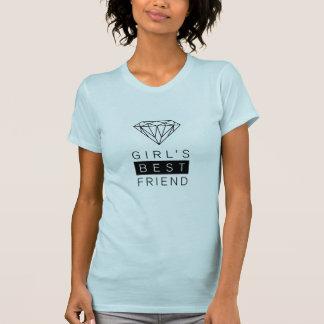女の子で親友のダイヤモンドのTシャツ Tシャツ
